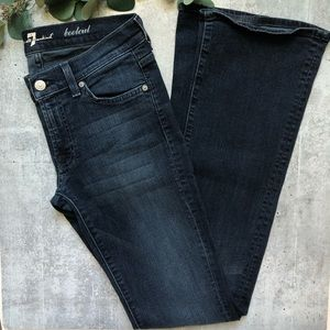 7 for All Mankind bootcut dark wash jeans